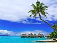 아름다운 진주알 【 보라보라 】 『프랑스령 폴리네시아 소시에테제도 타히티섬 북서쪽』